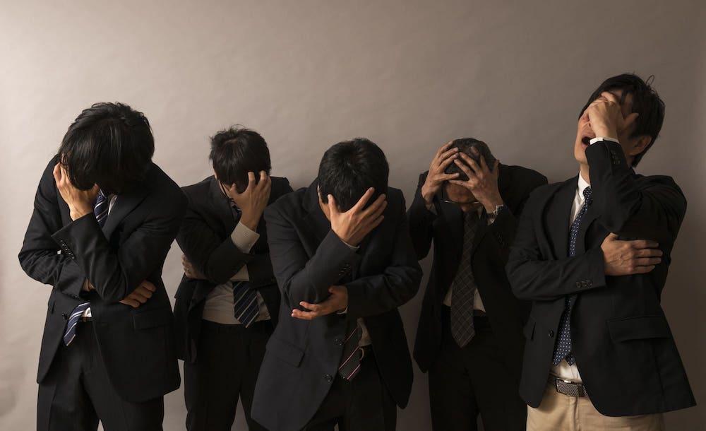 ストレスを抱える男性達
